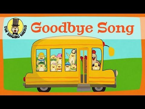 Goodbye Song for kids | The Singing Walrus - YouTube