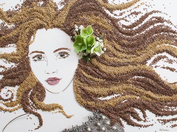 "Neat... Flower Prints ""Waves"" Flower Face Print"
