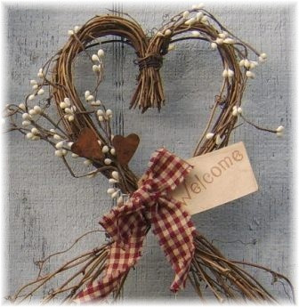 Heart Shaped Grapevine Wreath