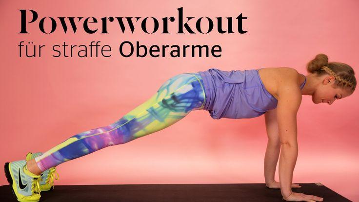 Schöne und straffe Oberarme? Mit diesen Fitness Tutorial bekommst du perfekt definierte Arme.