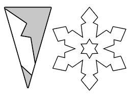 plantillas copos de nieve de papel - Buscar con Google