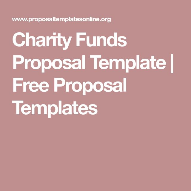 Charity Funds Proposal Template Free Proposal Templates - bid proposal template free