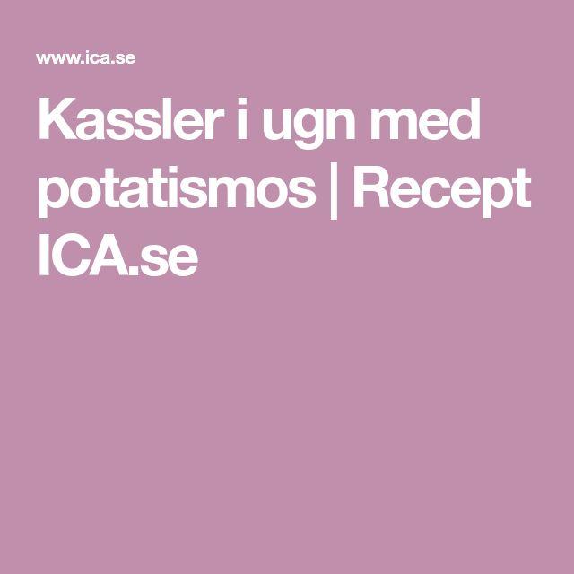 Kassler i ugn med potatismos | Recept ICA.se