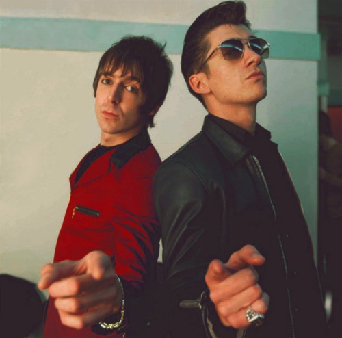 Miles Kane & Alex Turner AKA The Last Shadow Puppets god I love them songs soo much !! Would so love to see them back together properly touring