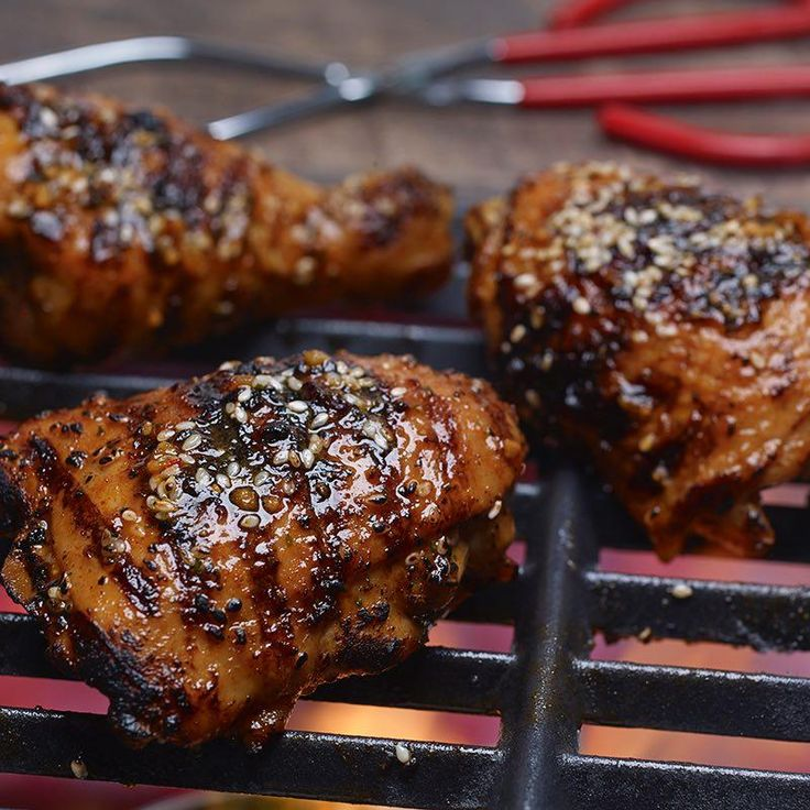 Kick up your cookout menu with this bold brown sugar-, bourbon- and soy sauce-infused grilled chicken. Use the reverse sear method to guarantee juicy and perfectly charred chicken every time. Serve with grilled green onions.