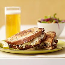 Reuben Sandwich - 6 points - note this is single serving recipe, double ingredients for   2 sandwiches. Really, really tasty! Perfect for fall /football food or light supper.