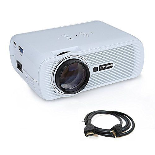 Crenova XPE460 LED Video Projector Home Projector with Free HDMI Support 1080P for Home Cinema Theater TV Laptop Game SD iPad iPhone Android Smartphone-White. #Crenova, #SB1111 #LaptopsandNotebook Crenova XPE460 LED Upgraded Mini Projector 1. Enhanced LED Light Technology * 20% Brighter than ordinary LED *For LCD projectors, the most important part is the LED light inside. *This XPE460 mini projector adopted the lasted upgraded LED technology, provides more brightness than o