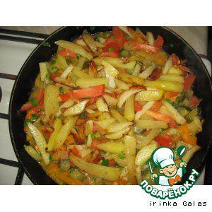Салат жаренная картошка капуста мясо