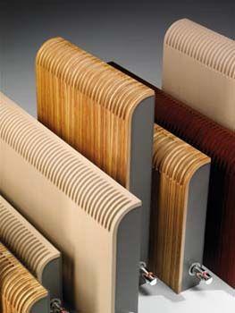 Designradiator van hout. Deze houten designratioren worden ontwikkeld door Jaga, The Radiator Factory en verkocht door M&O Techniek uit de Zaanstreek.