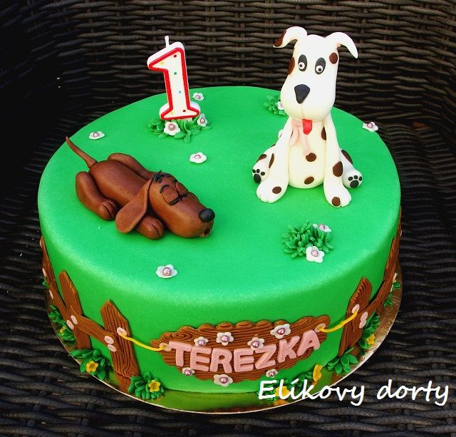 Cake with doggies