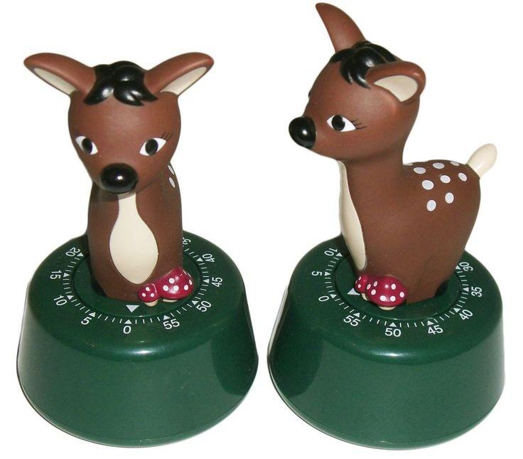 MINUTEUR de Cuisine BAMBI Biche DAIM Faon DESIGN Deer Timer AUTOMNE SOLDES -30%