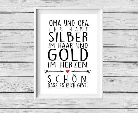 Digitaldruck – ★ Poster ★ Oma / Opa ★ Geschenk ★ – ein Designerstück von Kitsch-n-Story bei DaWanda