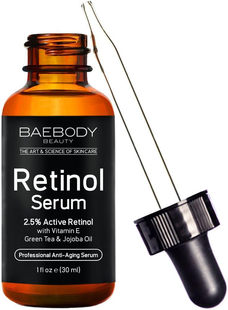 Baebody Retinol Serum 2.5% for Face, Professional Anti-Aging Topical Facial Serum, Anti-Wrinkle & Reduce Fine Lines, Clinical Strength Organic Ingredients w Vitamin E, Hyaluronic Acid, Jojoba Oil 1oz