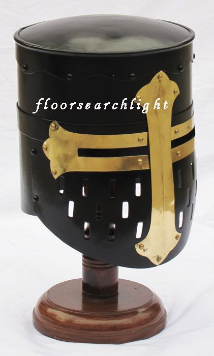 MEDIEVAL TEMPLAR KNIGHT CRUSADER ARMOR HELMET - RE-ENACTMENT FANCY DRESS COSTUME