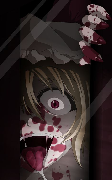 Horror anime lock screen