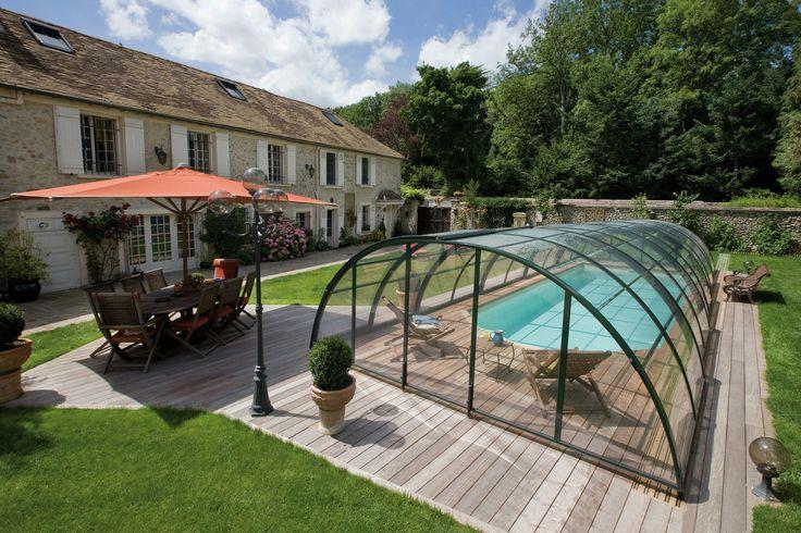 l'abri de #piscine confort par Sésame Cover à découvrir sur http://sesamecover.com/gammes/abri-piscine/abri-confort/