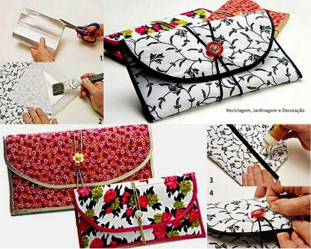 Recycle the milk cartons and transform them into a pretty wallet. This creative idea is very simple to put into practice. You will need: - milk carton; - scissors; -