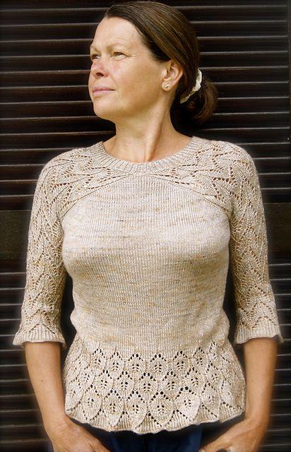Ravelry: Rosina Pullover - Rosina sweater pattern by FadenStille