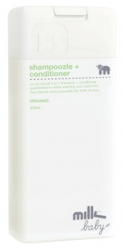 milk baby | shampoozle + conditioner. organic. love the packaging design