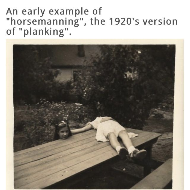 It's like planking, only it's horsemanning.....