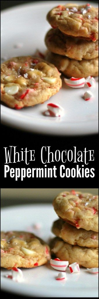 These White Chocolate Peppermint Cookies are a favorite for gifts for friends or to bring for a work Christmas party!  EVERYONE asks me for the recipe!