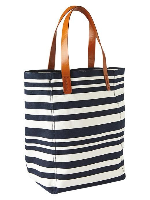 Gap GAP PRINTED CANVAS TOTE - NAVY