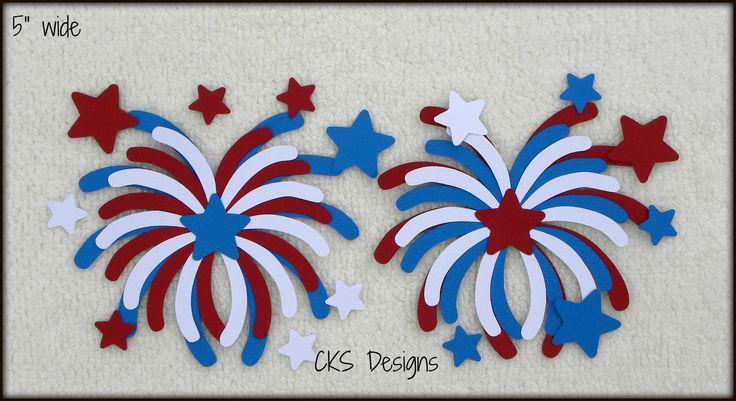 Die Cut July 4th Fireworks Scrapbook Paper Piecing
