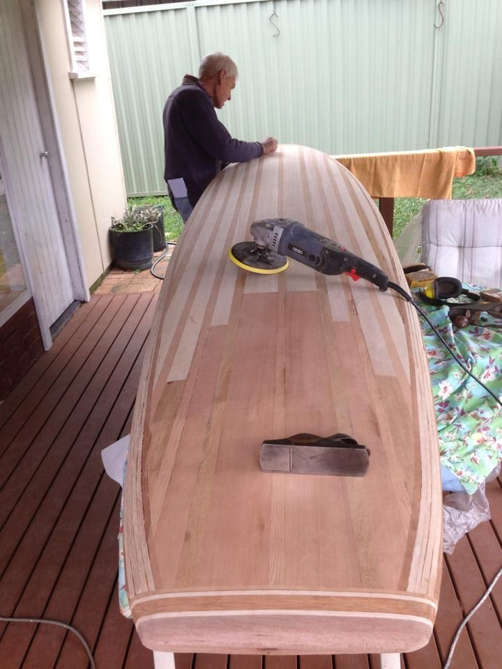 """Father/son DIY kit project - building a Stu's 9'6"""" SUP -Tucker Surf Supply kit. 
