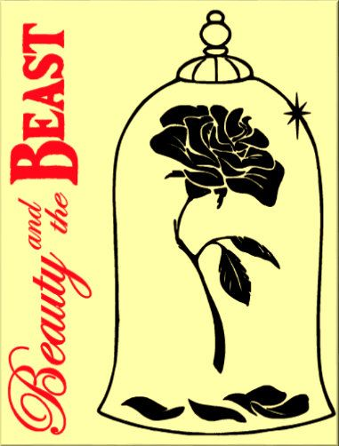 Beauty and the Beast Rose Icon Canvas by CreativeSparkDesigns