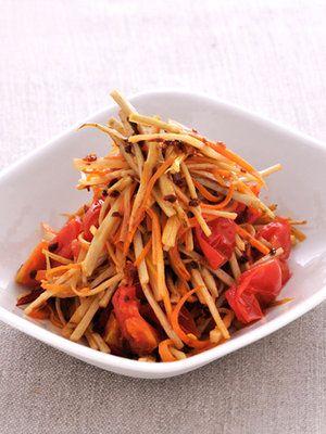 【ELLE a table】ごぼうとにんじんのペペロンチーノレシピ|エル・オンライン