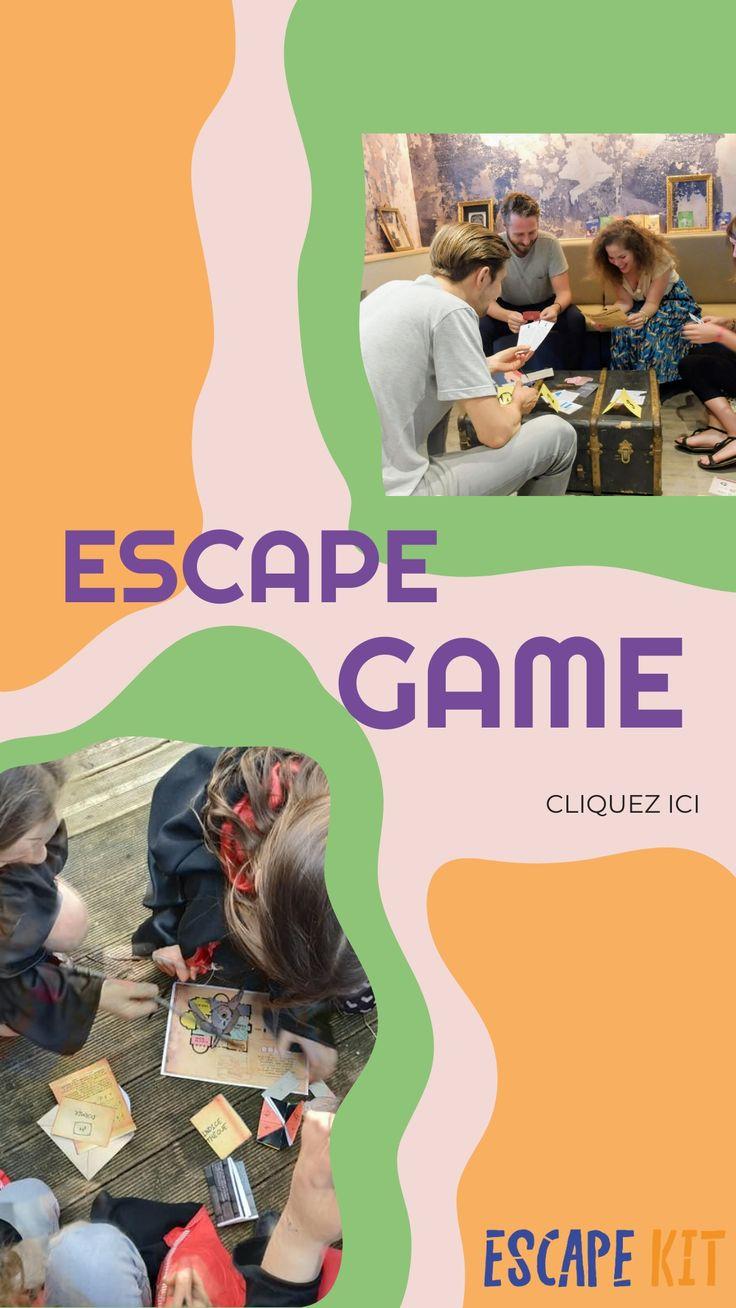 Escape Game a imprimer en famille. Jeu pour ados et adultes a faire a la maison au bureau ou en ...