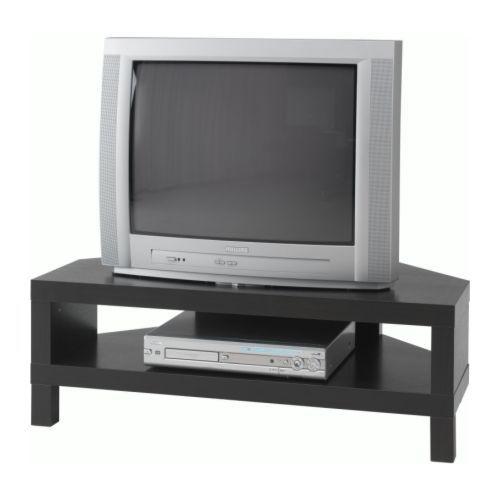 LACK Móvel TV de canto IKEA A abertura na parte de trás permite facilmente reunir e organizar todos os cabos.