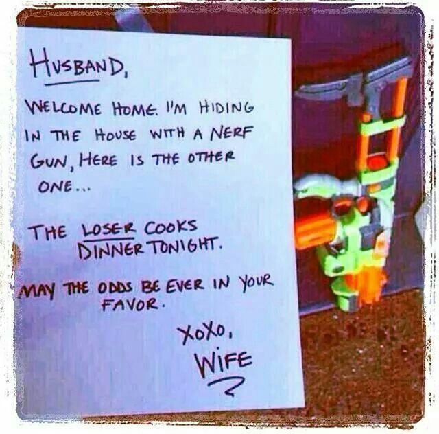 Lol...im so gona do this sort of thing when we live together xxx