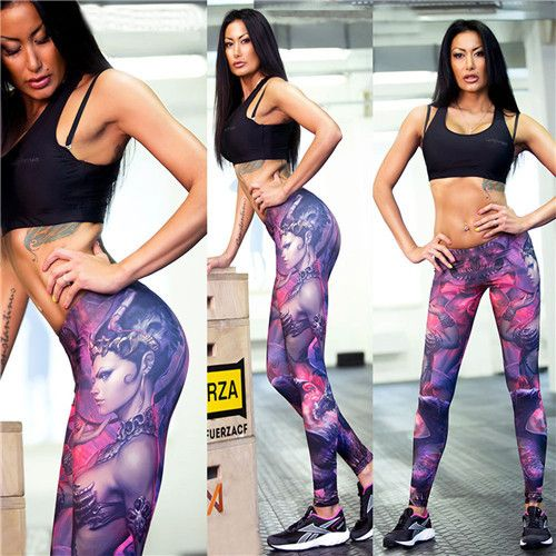 Adventure Time Fitness Women Sports Leggings Digital Printing Knitted Jeggings Workout Pants Sexy Gym Clothes Leggins