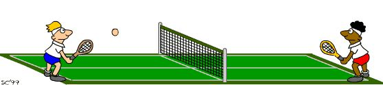 #SportsGame #3DGames Competition has started and both players are playing well so what do you think who will win match? Challenge your friends here and enjoy playing #Tennis