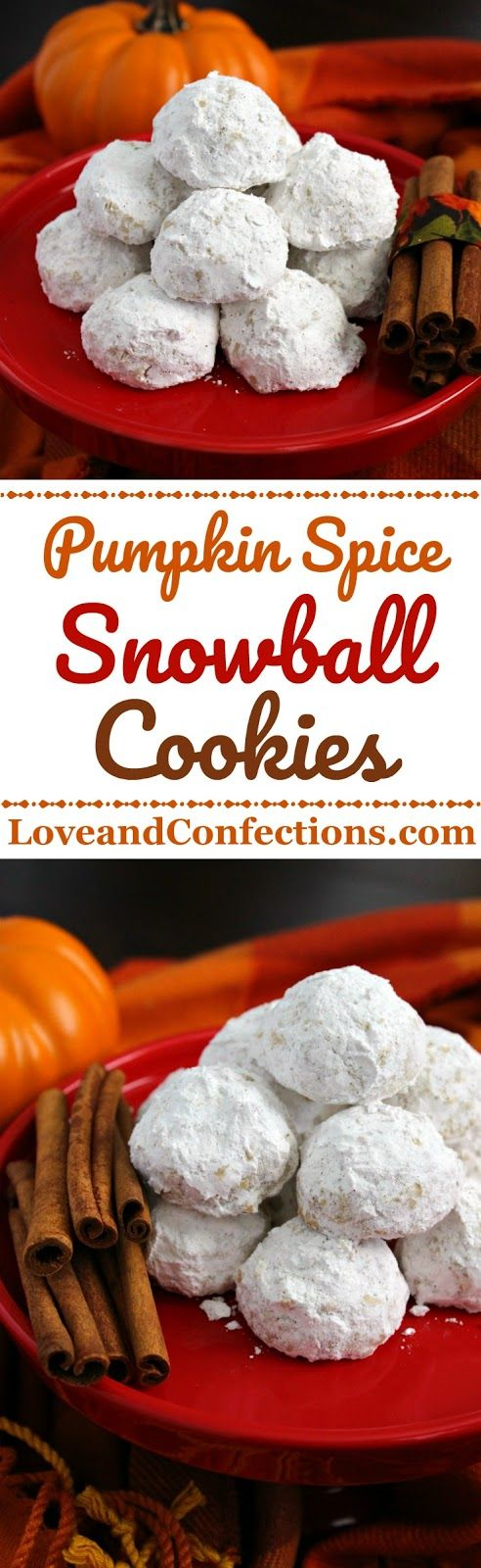 Pumpkin Pie Spice Snowball Cookies from LoveandConfections.com #PumpkinWeek #sponsored by @dixiecrystals