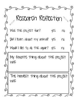 Animal Research Writing Project: Common Core Writing
