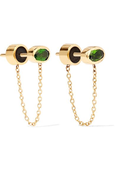 IAM by Ileana Makri | Ponds gold-plated diopside earrings