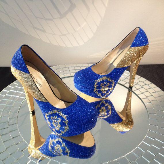 Alliance inspired high heel platform shoes....They do custom orders :)