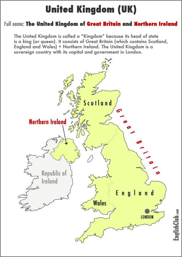 map showing United Kingdom
