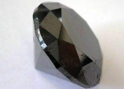 Самый большой ограненный черный алмаз