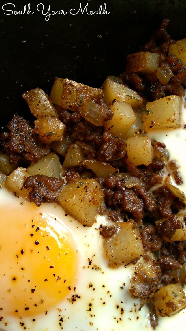 Hash Eggs Recipe Ground Beef Breakfast Ground Beef And Potatoes Pellet Grill Recipes