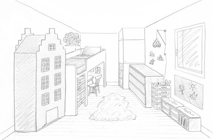 Les 373 meilleures images propos de chambre enfant sur pinterest chambres de b b chambres - Dessin muurschildering chambre fille ...