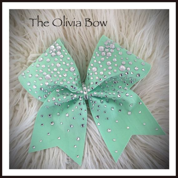 Hey, I found this really awesome Etsy listing at https://www.etsy.com/listing/227314721/the-olivia-cheer-bow-mint-green-spandex