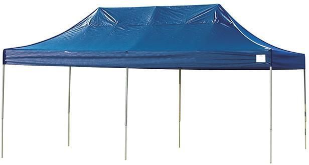 Shelterlogic 22535 10ft X 20ft Pro Pop Up Canopy Straight Leg Blue Cover Canopy Pop Up Instant Garage