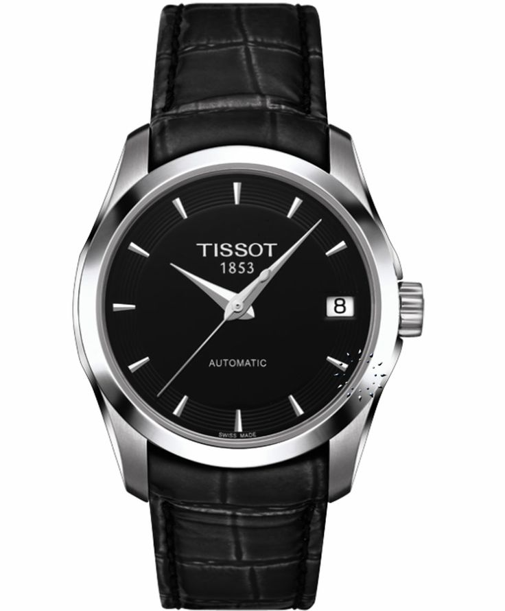 TISSOT Τ-Trend Couturier Black Leather Strap Η τιμή μας: 445€ http://www.oroloi.gr/product_info.php?products_id=35373