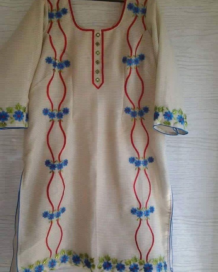 Work on off white punjabi suit