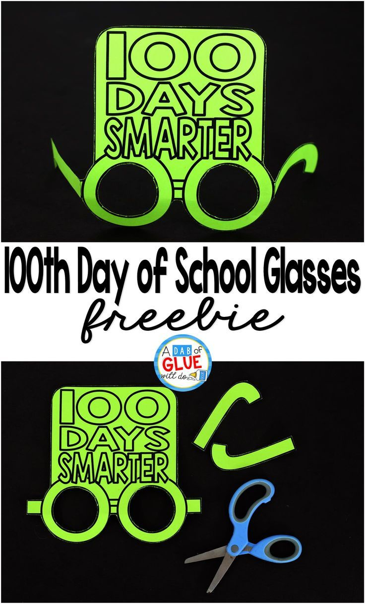 These 100th Day of School glasses will be the perfect way for your students to celebrate the 100th day of school. This free prinable is perfect for preschool, kindergarten, or first grade students.#100thday #100thdayofschool #freeprintable