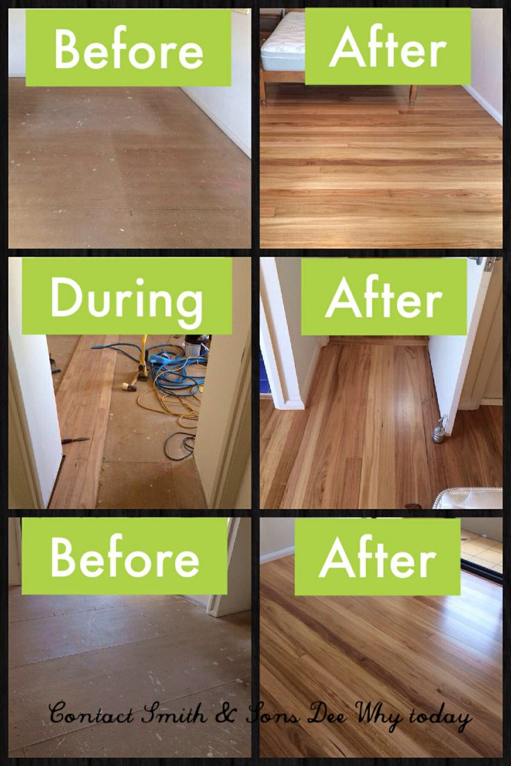 A gorgeous Blackbutt Hardwood floor to transform this house into a home