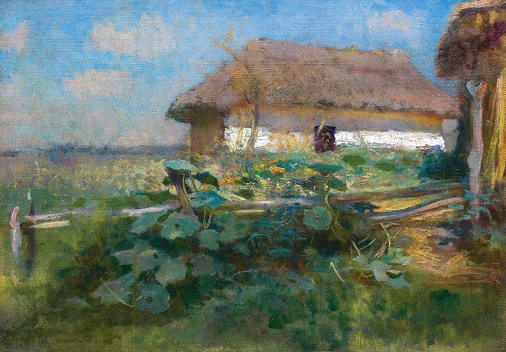 Jan Stanisławski | CHATA NA UKRAINIE, 1892 | olej, płótno | 32.7 x 46.2 cm